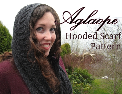 Knitting Pattern Aglaope A Lacey Hooded Scarf