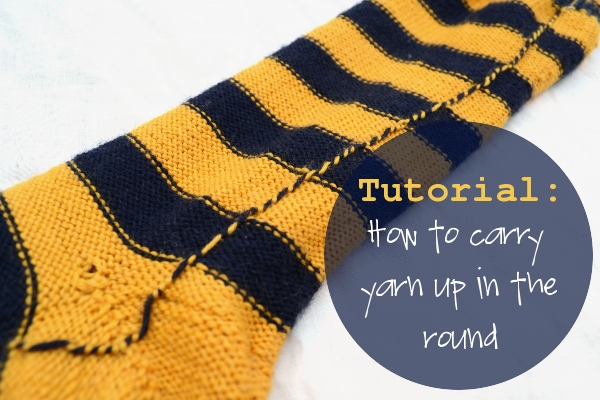Knitting Socks Tutorial : Knitting tutorial how to carry up yarn in the round