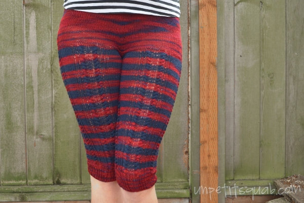 Finished Knitting Project Kalaloch Cabled Leggings
