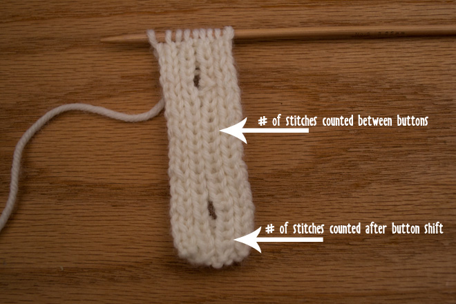 Knitting Stitches Buttonholes : How to Knit a Vertical Button Band