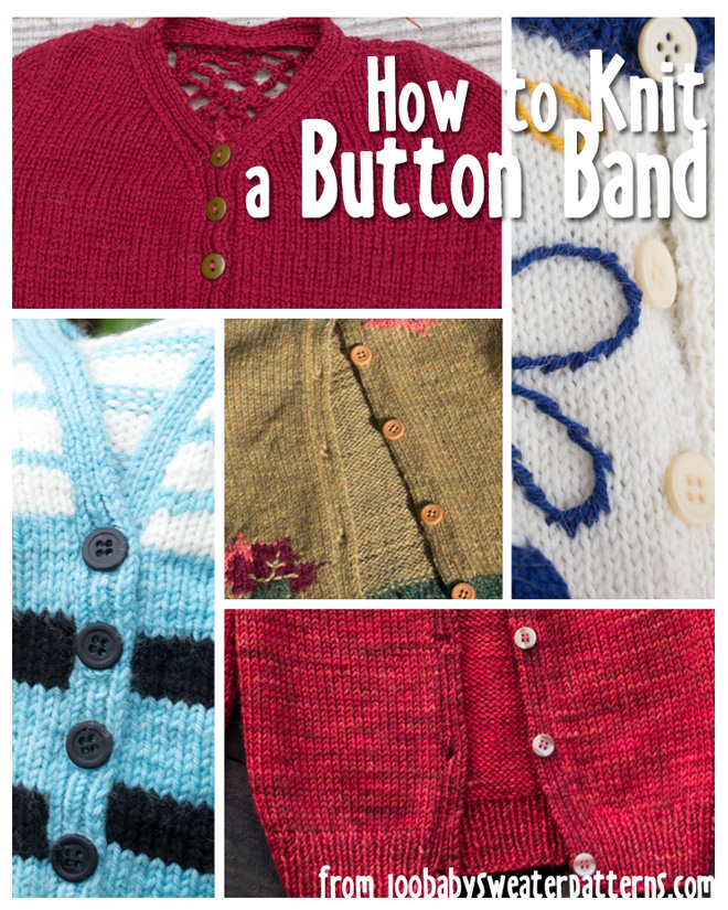 Knitting On The Net Buttonhole : How to knit a vertical button band