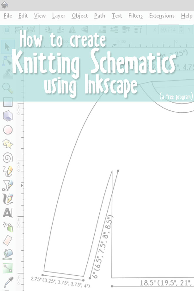How to Create Knitting Schematics with Inkscape: Part 1