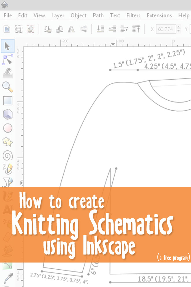 Drawing Knitting Schematics : How to create knitting schematics with inkscape part