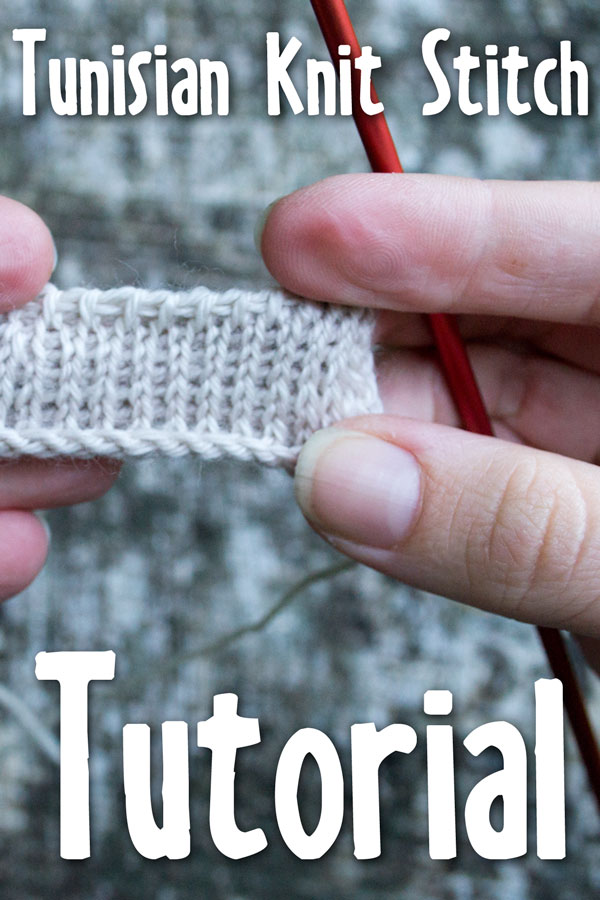tunisian knit stitch