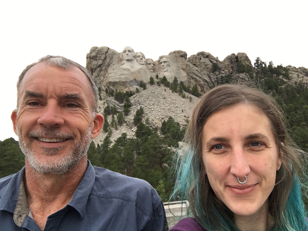 selife with my dad at Mount Rushmore